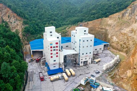 南方路機制砂干混整體解決方案應用于湖南瀏陽泰平