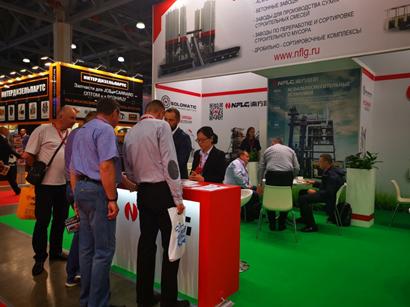 深耕海外市场|南方路机亮相第二十届俄罗斯工程机械展