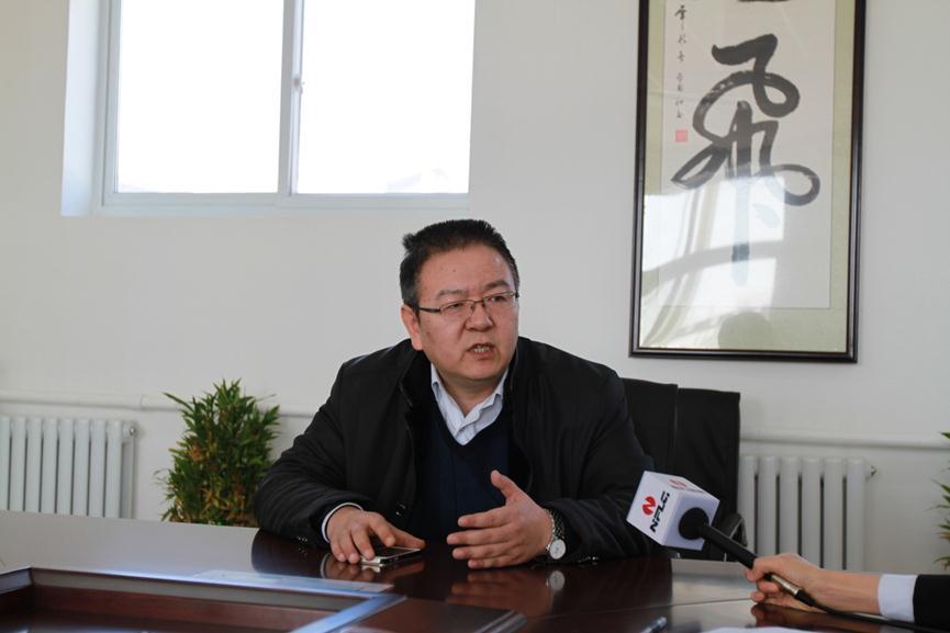 北京金隅砂浆有限公司总经理蔡鲁宏接受采访