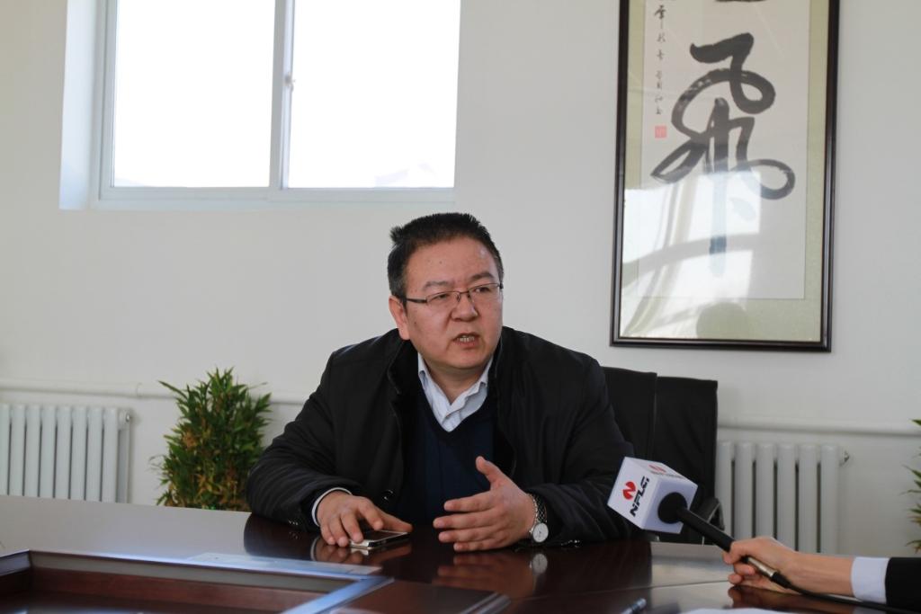 北京金隅砂浆有限公司总经理蔡鲁宏先生接受采访