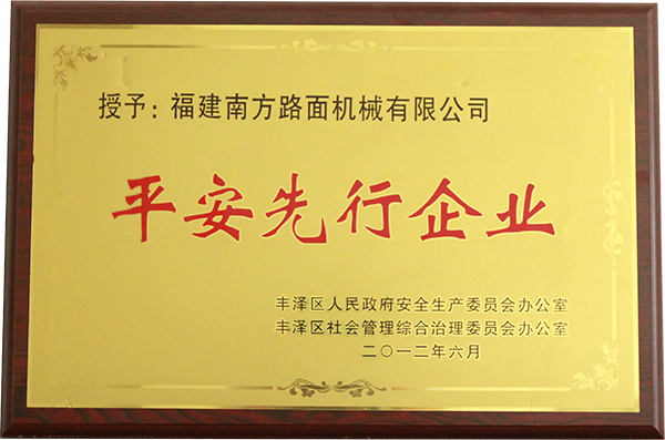 2012年平安先行企业