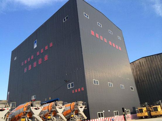 云南十四冶建设集团——南方路机HZS180高铁站的应用