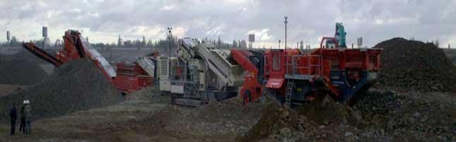 南方路机移动破碎设备应用于甘肃鹅卵石全方位骨料生产线