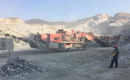 南方路机移动破碎线应用于山东青岛矿山骨料、道砟石生产
