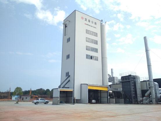 南方路机全环保沥青混合料搅拌设备在江西宜春市政的应用