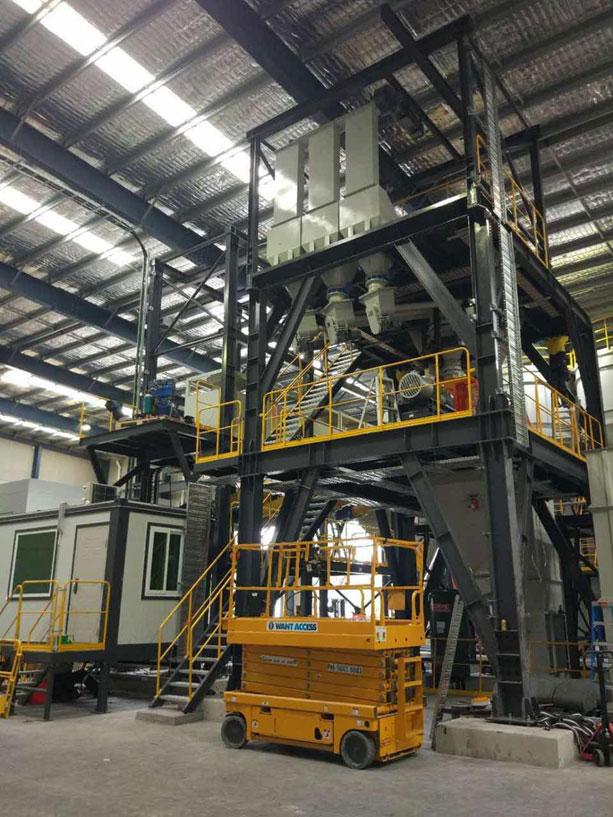 葡京赌场官网FBC2000型干混砂浆搅拌设备应用于澳大利亚