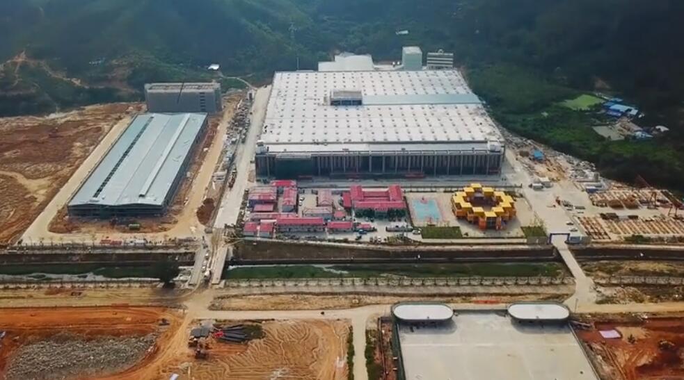 南方路机全环保预制件混凝土搅拌站 应用于盛腾科技工业园有限公司