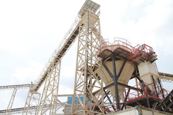 广东江门恒利石业,南方路机选粉机+V7干式制砂设备的应用