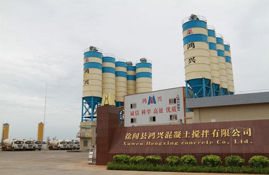 广东徐闻鸿兴——南方路机2HZS180混凝土搅拌设备的应用