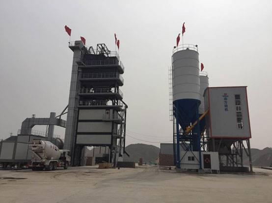 河北沧州荣胜——南方路机GLB4000+Rlb2000沥青混合料搅拌设备+HZS180混凝土搅拌设备的应用