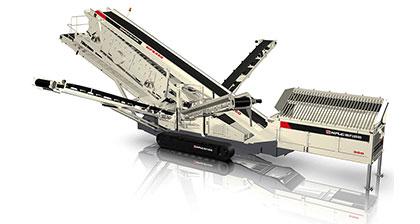 NFS350履带移动倾斜式筛分设备