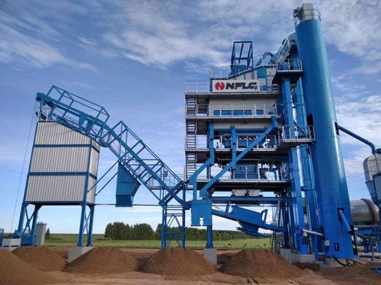 助力城市建設  南方路機LB2000瀝青混合料攪拌設備應用于俄羅斯喀山