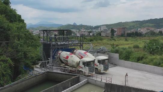 攪拌站上了這套南方路機濕混凝土回收設備,再也不用擔心環保問題