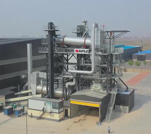 南方路機LBR系列原生加再生整體式瀝青攪拌設備應用于滄州