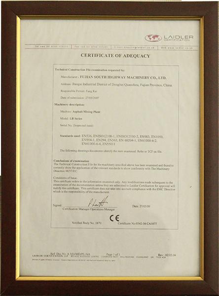 2009年certificate of adequacy