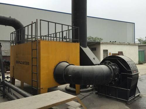 易胜博体育沥青搅拌站装车区环保设备高效消除蓝烟粉尘