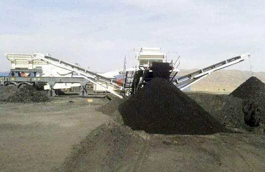 西北-煤炭破碎篩分-160噸每小時 南方路機NFW1060J+NFS330破碎篩分站應用于西北煤炭項目